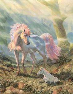 Unicorn and and baby unicorn. 🦄 👶 🦄 Unicorn and and baby unicorn. Unicorn And Fairies, Unicorn Fantasy, Real Unicorn, The Last Unicorn, Unicorn Horse, Unicorns And Mermaids, Unicorn Art, Rainbow Unicorn, White Unicorn