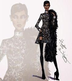 #Hayden Williams Fashion Illustrations #'Own the Night' by Hayden Williams