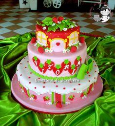 Strawberry Shortcake all sugar past Cupcakes, Cupcake Cakes, Strawberry Shortcake Birthday Cake, Foto Pastel, 1st Birthday Cake Topper, Novelty Cakes, Fancy Cakes, Creative Cakes, Amazing Cakes