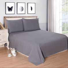 Lullabi Bedding 100% Ultra Soft, Double-side Brushed Finish, Microfiber Bed Sheets Set - Fitted, Flat sheet, Pillowcases, Wrinkle, Fade, Stain Resistant (Gray, Queen Size) -- Be sure to check out this awesome product.