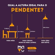 #DecorandoNosConformes Altura do Pendente