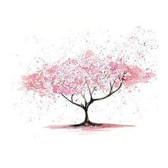 splattered tree