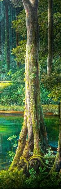 Arbol de Selva  oleo sobre lienzo