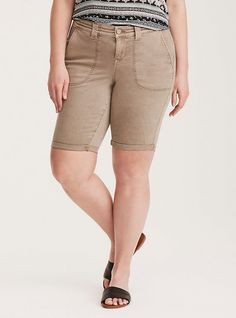 Cargo Bermuda Shorts - Morel Twill