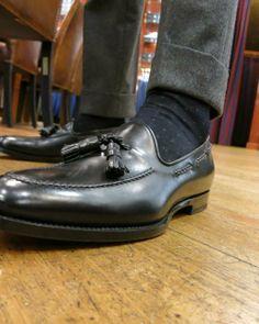 Viola Milano Black Dots socks Santoni Tassels. Punti Neri 650b5d45770