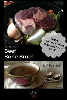 Bone Broth is healthy, delicious, and easy to make at home. Perfect for Paleo cooking. Cook low and slow for the best taste and nutrition. Instant Pot Pressure Cooker, Pressure Cooker Recipes, Pressure Cooking, Slow Cooker, Easy Soup Recipes, Paleo Recipes, Delicious Recipes, Drink Recipes, Dinner Recipes