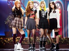 Blackpink on the first stage