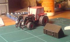 BM 650 Tractor with Trima Front Loader Free Vehicle Paper Model Download