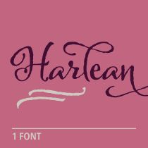 Harlean font by Laura Worthington