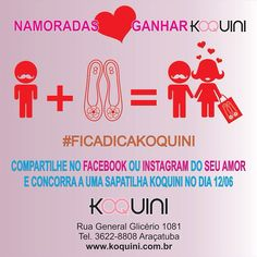 Compartilhe no Facebook, Pinterest ou Instagram do seu amor com a hashtag #ficadicakoquini e concorra a uma #koquini no #diadosnamorados