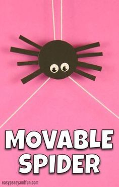 Craft Movable Spider Craft for Kids. Fun Halloween Creaft for Kids to Make in Classroom or at Home.Movable Spider Craft for Kids. Fun Halloween Creaft for Kids to Make in Classroom or at Home. Halloween Crafts For Kids, Crafts For Kids To Make, Christmas Crafts For Kids, Projects For Kids, Halloween Fun, Holiday Crafts, Craft Kids, Spider Crafts, Spider Art