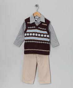 Loving this Navy Argyle Sweater Vest Set - Toddler on #zulily ...