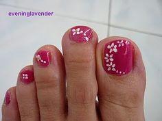 Uñas de los pies decoradas - Toe Nails Design