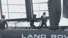 Sir Ben Ainslie lets Kate take helm of his catamaran