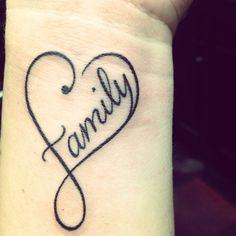 Sweet Faith And Family Infinity Tattoo Ideas On Wrist Tattoo ...