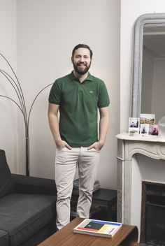 Marc Beaugé is sporting our short-sleeve green polo today. Lacoste Polo Shirts, Green Polo Shirts, Polo T Shirts, Polo Shirt Outfits, Polo Outfit, Summer Outfits Men, Casual Outfits, Men Casual, Mein Style