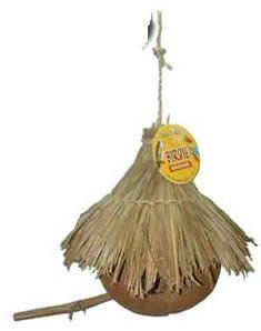 $6.41-$9.78 Coco House with Thatch Roof for Birds or Small Animals - Coconut unlike any thing you have seen. The shell is clean with various openings for your bird. The roof is made of sticks and sisal rope. Roof is made of straw-like reeds. This toy offers a natural environment for your bird. Can also be used for small animals also. Birds can shred the inside in order to make a nest. http://www.amazon.com/dp/B0006DQGLI/?tag=pin2pet-20
