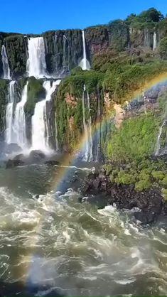 Rainbow Waterfall Lake – Travel World Beautiful Photos Of Nature, Beautiful Nature Wallpaper, Beautiful Places To Travel, Nature Photos, Amazing Nature, Beautiful Landscapes, Landscape Photography, Nature Photography, Travel Photography