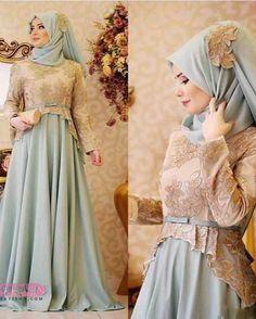 Image may contain: 1 person Hijab Look, Hijab Style, Hijab Chic, Muslim Wedding Dresses, Muslim Dress, Bridesmaid Dresses, Abaya Fashion, Modest Fashion, Fashion Dresses