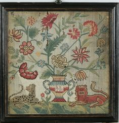 Needlework Sampler Initialed 'B.K.', dated 1730
