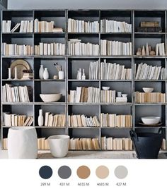 Love the colors, not sure if I can get behind turning the books around for the sake of a color palette though.