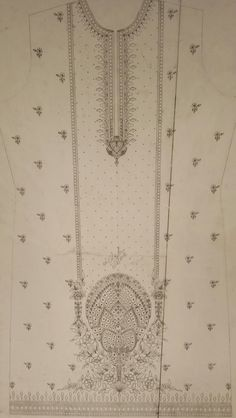 Embroidery Neck Designs, Hand Work Embroidery, Couture Embroidery, Embroidery Motifs, Machine Embroidery Patterns, Embroidery Patches, Motif Design, Fabric Design, Dress Design Sketches