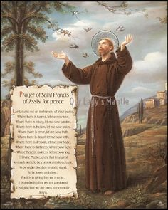 Francis Of Assisi Prayer, Saint Francis Prayer, Catholic Art, Religious Art, Michelangelo, St Francis Statue, Virgin Mary Art, Infant Of Prague, Patron Saint Of Animals