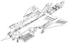 Avro Canada Arrow image gallery of pictures and photos. Fighter Aircraft, Fighter Jets, Avro Arrow, Airplane Design, Aircraft Design, Technical Drawing, Cartography, Military Aircraft, Line Drawing