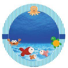 Fundo do mar – Kit festa infantil grátis para imprimir – Inspire sua Festa ® Baby Mickey, Under The Sea Party, Baby Shark, Toy Store, Beach Mat, Backdrops, Surfing, Outdoor Blanket, Tropical