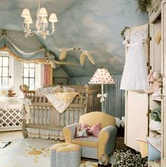 Another nursery that's straight out of Peter Pan............ready for a Darling family baby....I might have pinned this already...oh well!