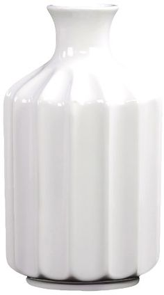 Urban Trends 28518 Decorative Ceramic Vase, Large, White Urban Trends