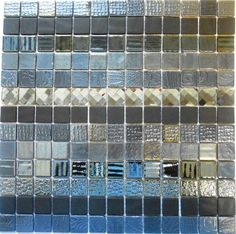 ROCCIA supply this product. www.roccia.com Black, grey and silver mosaic tile. Diamond Horizontal Black T19 33.5x33.5