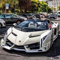 "Lamborghini Veneno Roadster"" Pictures of New 2017 Cars for Almost Every 2017 Car Make and Model, Newcarreleasedate… is… - Cars and motor Luxury Sports Cars, Exotic Sports Cars, Best Luxury Cars, Exotic Cars, New Sports Cars, Lamborghini Veneno, Carros Lamborghini, Lamborghini Roadster, White Lamborghini"