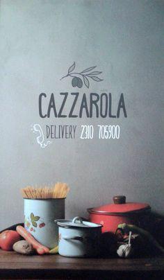 CAZZAROLA Μαγειρευτά Φαγητά... σαν το σπίτι σας !!! Το Νέο Εστιατόριο Ελληνικής Κουζίνας στο κέντρο της Θεσσαλονίκης !!! Παύλου Μελά 15, Delivery 2310 242 999 TΩΡΑ και στον Εύοσμο Καραολή & Δημητρίου 92, Τηλ.Delivery 2310 705 900