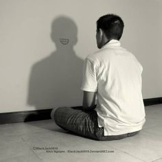 Most Amusing Shadow Photography Taken at Perfect Time and Angle - bemethis Shadow Photography, Creative Portrait Photography, Surrealism Photography, Conceptual Photography, Dark Photography, Photography Poses, Photography Challenge, Photography Projects, Kreative Portraits