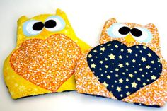 Adorable rice owls, Valentine's pocket warmers, sweet baby gifts, and general crafty craftiness at my house this weekend.