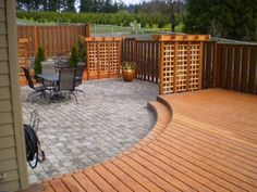 Deck to patio.