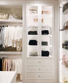 60 New Ideas For Small Closet Lighting Ideas Cabinets Best Closet Organization, Wardrobe Organisation, Organization Ideas, Tiny Closet, Dream Closets, White Closet, Open Closets, Walk In Closet Design, Closet Designs