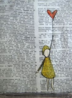 I like the idea of doodling in an old book....
