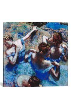 iCanvas 'Blue Dancers 1899 - Edgar Degas' Giclée Print Canvas Art