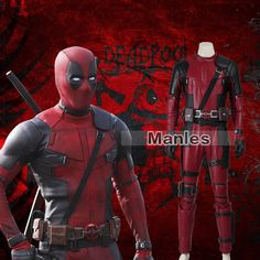 X-Men Deadpool Cosplay Costume Superhero Halloween Leather Outfits Carnival Suit Movie Costumes, Cool Costumes, Adult Costumes, Cosplay Costumes, Halloween Costumes, Male Cosplay, Best Cosplay, Plus Size Cosplay, Captain America Series