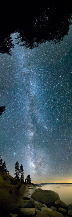 Every summer I would go camping out in South Lake Tahoe. Someone please take me back!  The Milky Way over Lake Tahoe