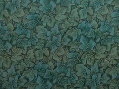 "Blue Green Leaves Fabric - Windsor Collection by Hoffman International Fabrics - Quilters Cotton - 31"" x 42"""