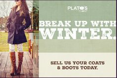 Break up with #Winter. Trade in your #coats & #boots for #dresses & #sandals! #PlatosCloset will give you #CashOnTheSpot for your winter gear!   www.platosclosetbarrie.com