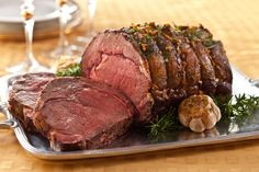 Shoulder Roast with Garlic and Herbs.