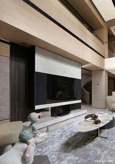 Modern Interior Design, Interior Design Inspiration, Interior Architecture, Living Room Interior, Home Living Room, Living Room Designs, H Design, House Design, Tv Console Design