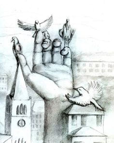 surreal hand-scapes- high school