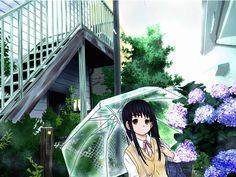 傘と紫陽花 / アビコ さんのイラスト - ニコニコ静画 (イラスト)