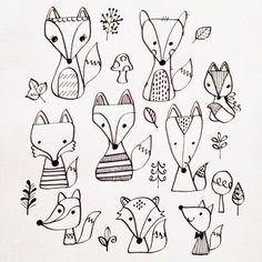 It's a fox thing! Fox doodles by Lisa Jayne Design: