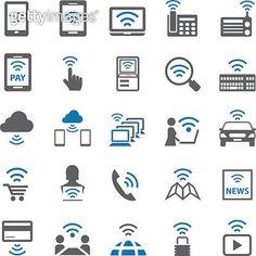 Wifi icons set - gettyimageskorea